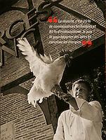 Chef Georges Blanc, with a Bresse chicken, for Gault Millau Magazine