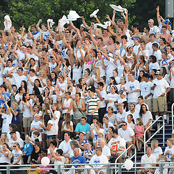 Photos by Tom Kelly IV<br /> Kennett fans cheer during the Avon Grove at Kennett, Friday night football game under the lights, August 30, 2013.