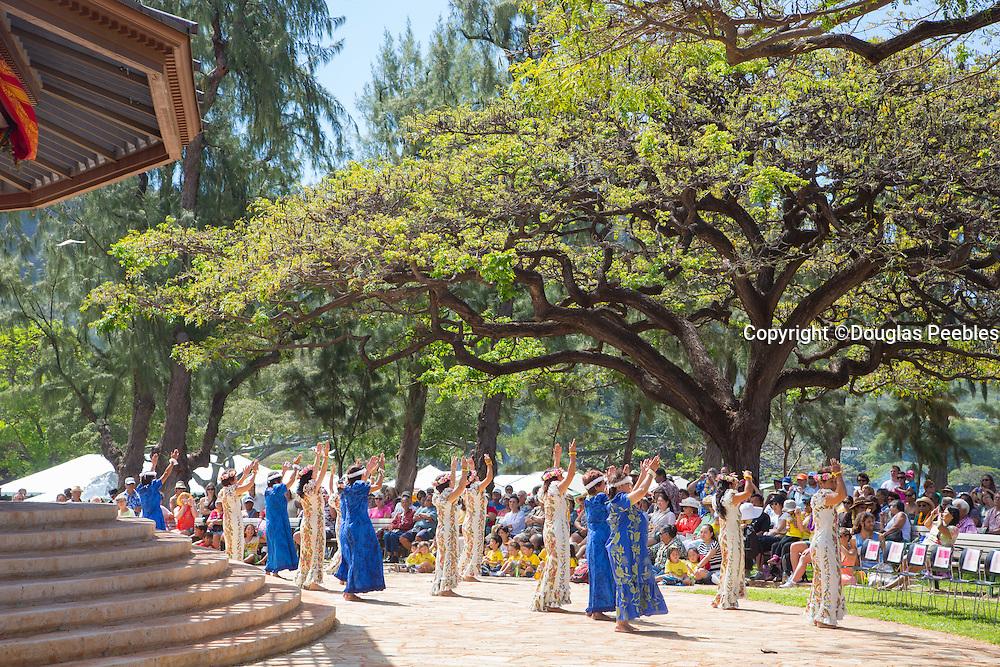 Hula Halau, May Day, Kapiolani Park, Waikiki, Oahu, Hawaii