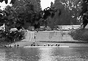 Mortlake/Chiswick. Greater London. London. 2017 Chiswick Bridge and Tideway Scullers School Boathouse.  Bourne Regatta At Chiswick Bridge   Course, Runs from and to Mortlake Anglian and Alpha Boathouse, dependent on the Tide Direction. Chiswick.  River Thames. <br /> <br /> General view, Tideway Scullers School, slipway.<br /> Saturday  06/05/2017<br /> <br /> [Mandatory Credit Peter SPURRIER/Intersport Images]