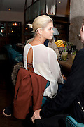 PIXIE GELDOF; , Leaving dinner for Kate Phelan given by Alex Shulman and Mary Homer. Riding House Cafe. Great Titchfield st. London. 20 September 2011. <br /> <br />  , -DO NOT ARCHIVE-© Copyright Photograph by Dafydd Jones. 248 Clapham Rd. London SW9 0PZ. Tel 0207 820 0771. www.dafjones.com.