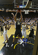 February 27 2013: Purdue Boilermakers center A.J. Hammons (20) pulls in a rebound during the first half of the NCAA basketball game between the Purdue Boilermakers and the Iowa Hawkeyes at Carver-Hawkeye Arena in Iowa City, Iowa on Wednesday, February 27 2013.