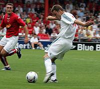 Photo: Paul Thomas.<br /> Crewe Alexandra v Liverpool. Pre Season Friendly. 22/07/2006.<br /> <br /> Fabio Aurelio in action for Liverpool.