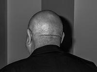 Portrait of French artist Christian Boltanski French artist Christian Boltanski is seen during a artist talk in Munich.