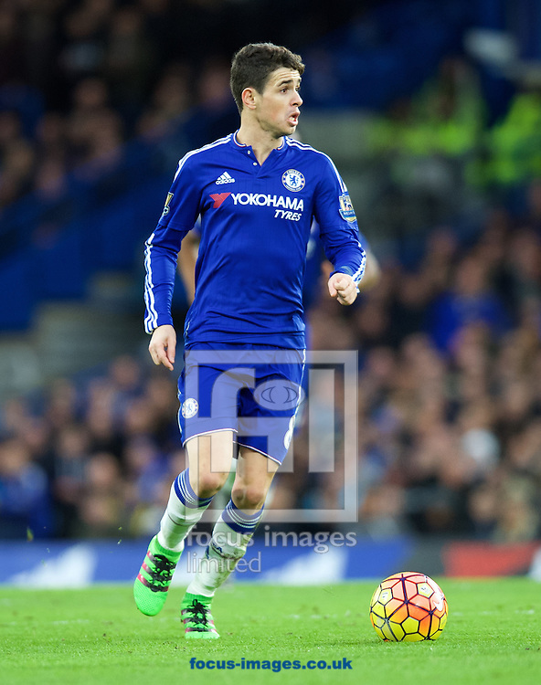 Oscar of Chelsea during the Barclays Premier League match at Stamford Bridge, London<br /> Picture by Alan Stanford/Focus Images Ltd +44 7915 056117<br /> 07/02/2016