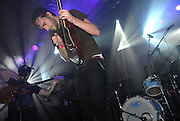 .Photographer: Howard Barlow.THE FOALS.WAREHOUSE PROJECT, MANCHESTER.1 DECEMBER 2007.JIMMY SMITH (right) and YANNIS