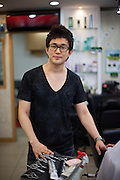 Portrait of a hairdressers saloon owner working in Daegu. Daegu, also known as Taegu and officially the Daegu Metropolitan City, is the third largest metropolitan area in South Korea, and by city limits, the fourth largest city with over 2.5 million people. The IAAF World Championships in Athletics will take place in Daegu from the 27th of August till the 4th of September 2011.