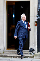 © Licensed to London News Pictures. 29/03/2017. London, UK. Secretary of State for Exiting the European Union DAVID DAVIS attends a cabinet meeting in Downing Street, London on Wednesday, 29 March 2017 as Prime Minister Theresa May triggers article 50 and starts Britain's departure from the European Union. Photo credit: Tolga Akmen/LNP