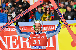 26.10.2019, Kandahar, Garmisch, GER, FIS Weltcup Ski Alpin, Abfahrt, Herren, im Bild Peter Fill (ITA) Verabschiedung // Peter Fill of Italy last Race reacts after his run in the men's downhill of FIS Ski Alpine World Cup at the Kandahar in Garmisch, Germany on 2019/10/26. EXPA Pictures © 2020, PhotoCredit: EXPA/ Erich Spiess