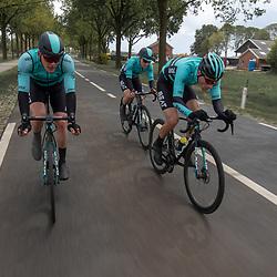 04-05-2019: Wielrennen: Ronde van Overijssel: Rijssen<br />Piotr Havik, Luuc Bugter, Martijn Budding