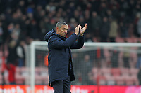 Football - 2018 / 2019 FA Cup - Third Round: AFC Bournemouth vs. Brighton & Hove Albion<br /> <br /> Brighton Manager Chris Hughton applauds the traveling support after the final whistle at the Vitality Stadium (Dean Court) Bournemouth <br /> <br /> COLORSPORT/SHAUN BOGGUST