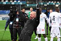 Fotball , 1. desember 2019 , Eliteserien , Kristiansund - Strømsgodset <br /> trener Henrik Pedersen  , SIF jubel etter å ha berget plassen