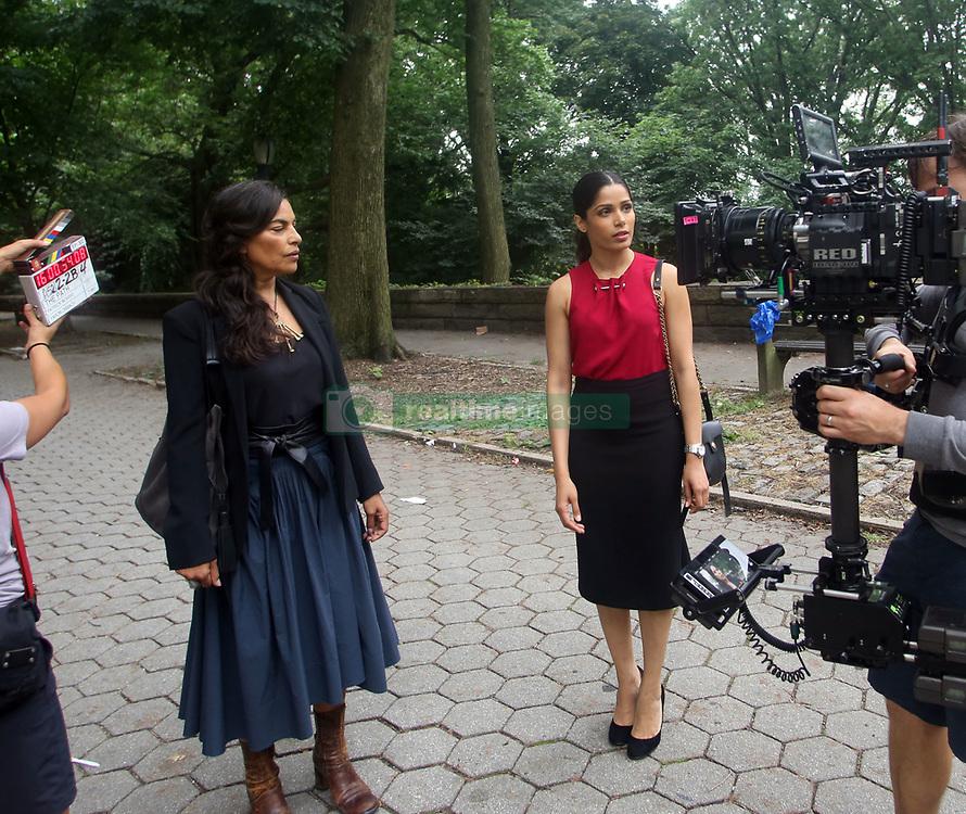 "EXCLUSIVE: Freida Pinto , Sarita Choudhury two new cast members of the Hulu show ""The Path"". 27 Jul 2017 Pictured: Sarita Choudhury, Frieda Pinto. Photo credit: SteveSands/NewYorkNewswire/MEGA TheMegaAgency.com +1 888 505 6342"