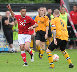 Zak Vyner of Bristol City in action against Keynsham Town - Photo mandatory by-line: Dougie Allward/JMP - Mobile: 07966 386802 - 05/07/2015 - SPORT - Football - Bristol - Brislington Stadium - Pre-Season Friendly