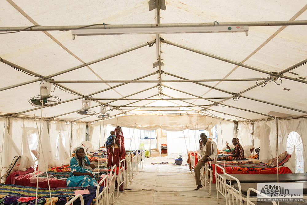 Tent set up for malnourished children at a UNICEF-sponsored therapeutic feeding center at the Mongo hospital in the town of Mongo, Guera province, Chad on Tuesday October 16, 2012.