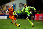 Hibernian midfielder Andrew Shinnie (#22) in action during the Ladbrokes Scottish Championship match between Dundee United and Hibernian at Tannadice Park, Dundee, Scotland on 10 March 2017. Photo by Craig Doyle.