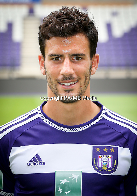 Anderlecht's Maxime Colin pictured during the 2015-2016 season photo shoot of Belgian first league soccer team RSC Anderlecht, Tuesday 14 July 2015 in Brussels.
