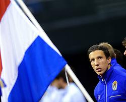 13-09-2014 NED: Davis Cup Nederland - Kroatie, Amsterdam<br /> Nederland verliest de dubbel en staat op de tweede dag met 2-1 achter / Igor Sijsling