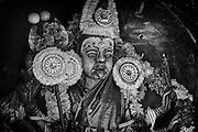 Shrine to Goddess Kali. South India.
