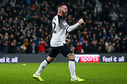 Wayne Rooney of Derby County celebrates after assisting Jack Marriott of Derby County to score a goal to make it 1-0 - Mandatory by-line: Robbie Stephenson/JMP - 02/01/2020 - FOOTBALL - Pride Park Stadium - Derby, England - Derby County v Barnsley - Sky Bet Championship