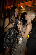 LINZI STOPPARD AND CHARLOTTE DUTTON, Cointreau and Dita von Teese event. 1 Marlebone Rd. London. 13 December 2007. -DO NOT ARCHIVE-© Copyright Photograph by Dafydd Jones. 248 Clapham Rd. London SW9 0PZ. Tel 0207 820 0771. www.dafjones.com.