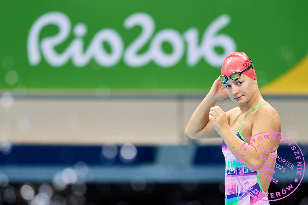 Rio de Janeiro, Brazil - 2016 September 02: Oliwia Jablonska from Poland looks forward during training session in Olympic Aquatics Stadium while 2016 Summer Paralympic Games on September 02, 2016 in Rio de Janeiro, Brazil.<br /> Rio 2016 Paralympic Games will be held from September 7 until 18.<br /> <br /> Adam Nurkiewicz declares that he has no rights to the image of people at the photographs of his authorship.<br /> <br /> Picture also available in RAW (NEF) or TIFF format on special request.<br /> <br /> Any editorial, commercial or promotional use requires written permission from the author of image.<br /> <br /> Mandatory credit:<br /> Photo by &copy; Adam Nurkiewicz / Mediasport