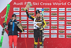 14.01.2018, Idre Fjall, Idre, SWE, FIS Weltcup Ski Cross, Idre Fjall, im Bild Fanny Smith och Sandra Näslund // during the FIS Ski Cross World Cup at the Idre Fjall in Idre, Sweden on 2018/01/14. EXPA Pictures © 2018, PhotoCredit: EXPA/ Nisse Schmidt<br /> <br /> *****ATTENTION - OUT of SWE*****