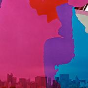 Manhattan skyline through Jeff Koons' sculpture