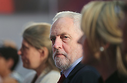© Licensed to London News Pictures. 02/06/2017. York UK. Labour Party leader JEREMY CORBYN waits to deliver a speech at York Science Park, outlining the party's strategy to deliver jobs and strengthen the economy. Photo credit: Andrew McCaren/LNP
