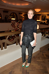 POLLY MORGAN at the unveiling of a Very Special Malone Souliers Christmas Tree, In Support Of Starlight Children's Foundation held at The Club Cafe Royal, Regent Street, London on 2nd December 2015.