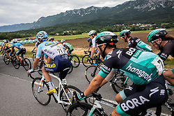 Michael Schwarzmann (GER) of Bora - Hansgrohe, Erik Baska (SVK) of Bora - Hansgrohe during 4th Stage of 26th Tour of Slovenia 2019 cycling race between Nova Gorica and Ajdovscina (153,9 km), on June 22, 2019 in Slovenia. Photo by Vid Ponikvar / Sportida