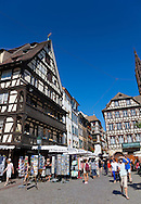 Strret of Strasbourg, Bas-Rhin, Alsace, France