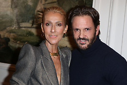 Celine Dion and Ronald van der Kemp at the Ronald van der Kemp show as part of Paris Haute Couture Fashion Week Spring/Summer 2019-2020 on January 23, 2019 in Paris, France. Photo by Jerome Domine/ABACAPRESS.COM