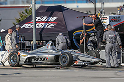 June 9, 2018 - Fort Worth, Texas, U.S - Indy Car teams get ready for action before the DXC Technology 600 race at Texas Motor Speedway in Fort Worth,Texas. (Credit Image: © Dan Wozniak via ZUMA Wire)