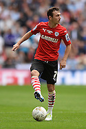 Josh Scowen of Barnsley during the Sky Bet League 1 Play-off Final between Barnsley and Millwall at Wembley Stadium, London<br /> Picture by Richard Blaxall/Focus Images Ltd +44 7853 364624<br /> 29/05/2016
