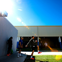 2/18/13 10:36:11 AM -- Bradenton, FL, U.S.A. -- NFL prospect and Notre Dame linebacker Manti Te'o works out at IMG Academy in Bradenton, Fla., in preparation for this year's NFL Combine.  -- ...Photo by Chip J Litherland, Freelance