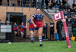Bristol Bears Women run-out after the break - Mandatory by-line: Paul Knight/JMP - 01/12/2018 - RUGBY - Shaftesbury Park - Bristol, England - Bristol Bears Women v Harlequins Ladies - Tyrrells Premier 15s