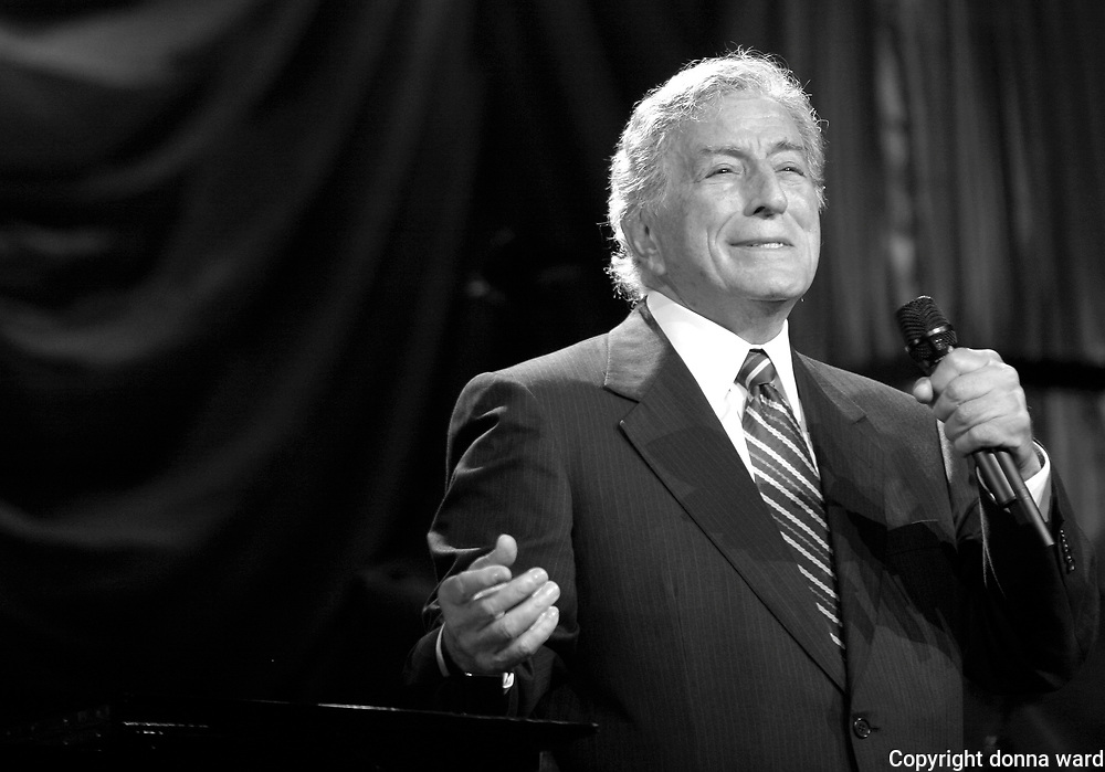 "Tony Bennett performs at the 106.7 Lite FM ""One Night With Lite"" concert at the Theater at Madison Square Garden on Tuesday, September 26, 2006 in New York."
