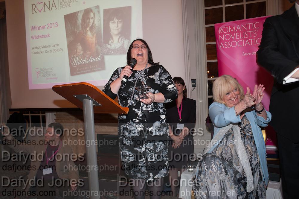 VICTORIA LAMB; , Romantic Novelists Association The RoNas Awards - RICHARD MADELEY & JUDY FINNIGAN - ballroom of the RAF Club, 128 Piccadilly, London. 26 February 2013