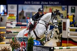 BORMANN Finja (GER), Grey Chester <br /> Youngster Tour 2. Qualifikation<br /> Preis der Kanzlei Dr. Winzer und Kollegen<br /> Int. jumping competition against the clock (1.35-1,40m) - CSIYH1*<br /> Braunschweig - Classico 2020<br /> 07. März 2020<br /> © www.sportfotos-lafrentz.de/Stefan Lafrentz