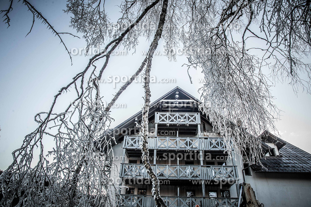Hotel Jezero po požaru, Bohinj, 6. januar 2017.<br /> // Hotel Jezero in Bohinj after fire in the highest floor, on January 6, 2017 in Ribcev Laz, Slovenia. Photo by Vid Ponikvar / Sportida