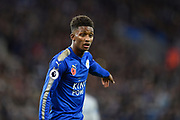 Leicester City midfielder Demarai Gray (7) during the Premier League match between Leicester City and Everton at the King Power Stadium, Leicester, England on 29 October 2017. Photo by Jon Hobley.
