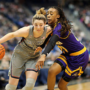 HARTFORD, CONNECTICUT- JANUARY 4: Katie Lou Samuelson #33 of the Connecticut Huskies is defended by Bre McDonald #20 of the East Carolina Lady Pirates during the UConn Huskies Vs East Carolina Pirates, NCAA Women's Basketball game on January 4th, 2017 at the XL Center, Hartford, Connecticut. (Photo by Tim Clayton/Corbis via Getty Images)