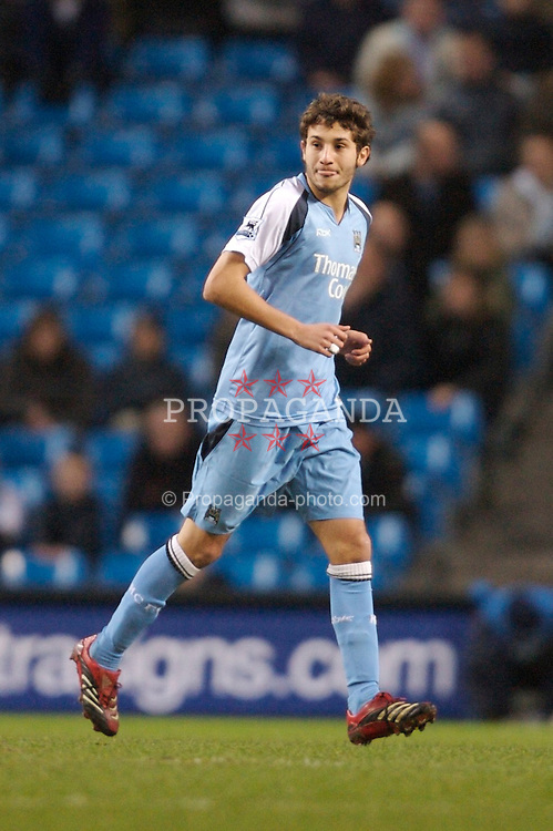 Manchester, England - Sunday, January 28, 2007: Manchester City's new signing Djamal Abdoun in action against Southampton during the FA Cup 5th Round match at the City of Manchester Stadium. (Pic by David Rawcliffe/Propaganda)