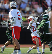 Lincoln-Sudbury Regional High School senior Chris Brindisi rips a shot on goal during the Division 1 North Championship game against Billerica Memorial High School at Connolly Memorial Stadium in Woburn, June 13, 2015. The Warriors beat the Indians, 12-8.   (Wicked Local Photo/James Jesson)