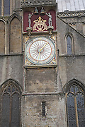 Clock, Wells cathedral, Somerset, England