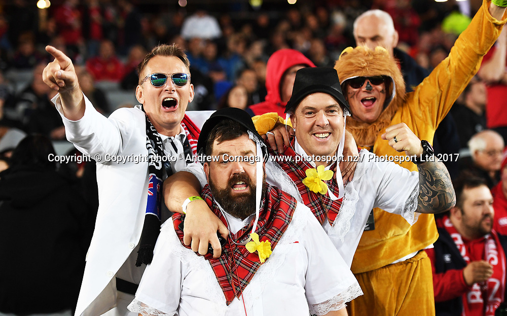 Fans and supporters.<br /> 3rd rugby union test match. New Zealand All Blacks versus the British and Irish Lions. Eden Park, Auckland, New Zealand. Saturday 8 July 2017. &copy; Copyright photo: Andrew Cornaga / www.Photosport.nz