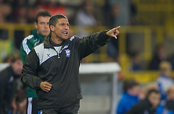 20.10.2011, Jan-Breydel Stadion, Bruegge, BEL, UEFA EL, Gruppe H, FC Bruegge (BEL) vs Birmingham City (ENG), im Bild  Birmingham City's manager Chris Hughton against Club Brugge during the UEFA Europa League Group H match at the Jan Breydelstadion.  // during UEFA Europa League group H match between FC Bruegge (BEL) vs Birmingham City (ENG), at Jan-Breydel Stadium, Brugge, Belgium on 20/10/2011. EXPA Pictures © 2011, PhotoCredit: EXPA/ Propaganda Photo/ David Rawcliff +++++ ATTENTION - OUT OF ENGLAND/GBR+++++