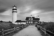 The Cape Cod Highland Lighthouse On A Very Windy And Cold Autumn Morning, Part Of The Cape Cod National Seashore, Massachusetts, USA