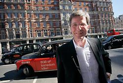 UNITED KINGDOM LONDON 2JUN09 - Michel Parmigiani, president of Parmigiani Fleurier SA exits a London black cab in South Kensington, central London...jre/Photo by Jiri Rezac..© Jiri Rezac 2009